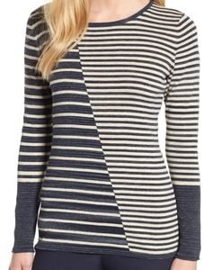 NWT Nic + Zoe Serene Knit Top striped size large